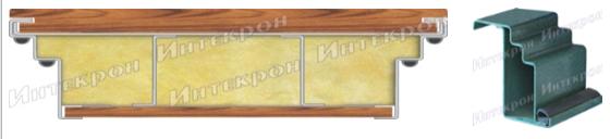 Короб: утолщенный гнутый профиль с двойным контуром  уплотнения и антивзломный лабиринт