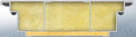 Короб утолщенный гнутый профиль с четырьмя контурами уплотнениия