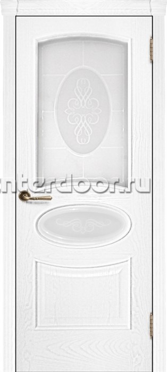 Ульяновские двери Оливия со стеклом (Жемчужный ясень)