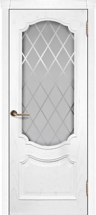 Ульяновские двери Монако со стеклом (Жемчужный ясень)