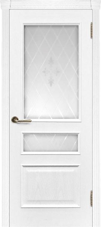 Ульяновские двери Милан со стеклом (Жемчужный ясень)