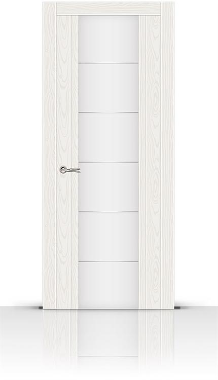 Межкомнатная дверь Виконт со стеклом (Белый ясень)