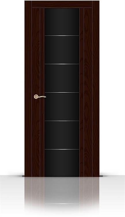 Межкомнатная дверь Виконт со стеклом (Ясень шоколад)