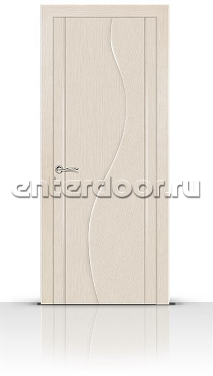 Межкомнатная дверь Корунд (Беленый дуб, Шпон)