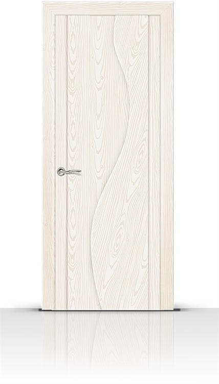 Межкомнатная дверь Корунд (Ясень белый, Шпон)