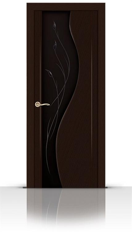 Межкомнатная дверь Корунд со стеклом (Венге, Шпон)