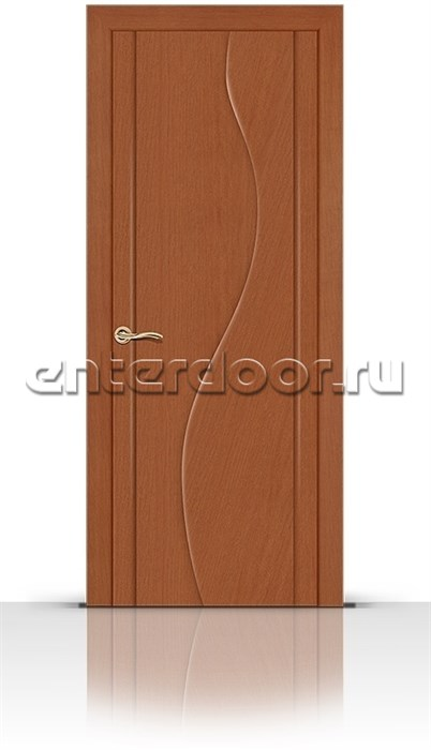Межкомнатная дверь Корунд со стеклом (Анегри темный, Шпон)