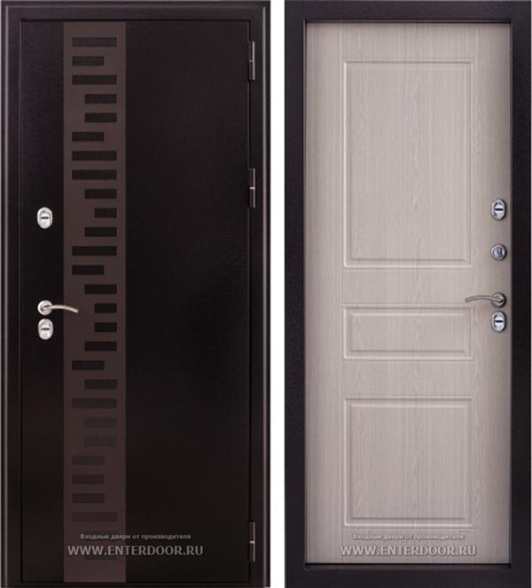 Входная уличная дверь Урал с терморазрывом (Дуб беленый)