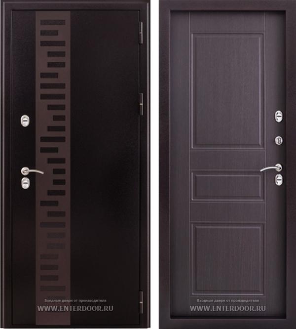 Входная уличная дверь Урал с терморазрывом (Венге)