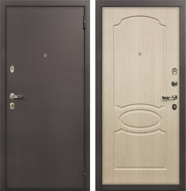 Входная металлическая дверь Лекс 1А (Беленый дуб)
