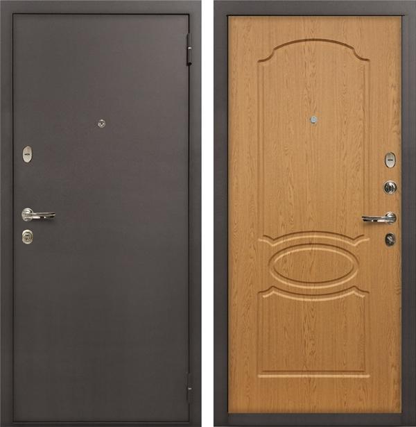 Входная металлическая дверь Лекс 1А (Натуральный дуб)