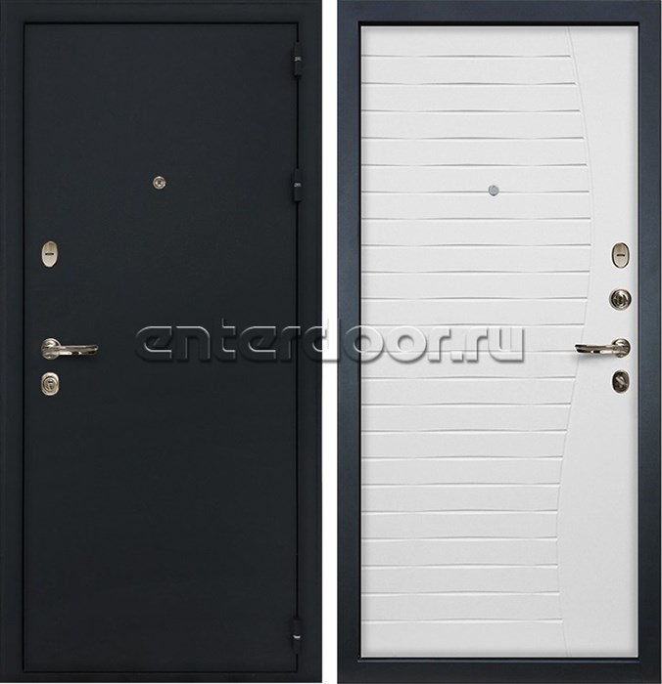 Входная металлическая дверь Лекс Рим Волна (Ясень белый)