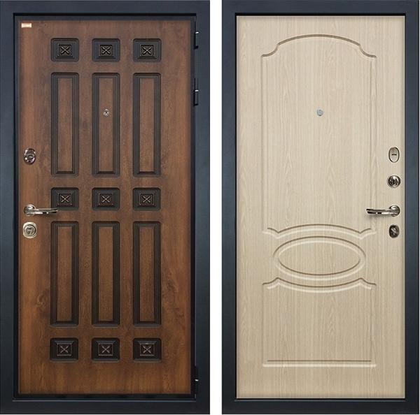 Входная металлическая дверь Лекс Гладиатор 3К Винорит ФЛ-139 МДФ-12 Дуб беленый