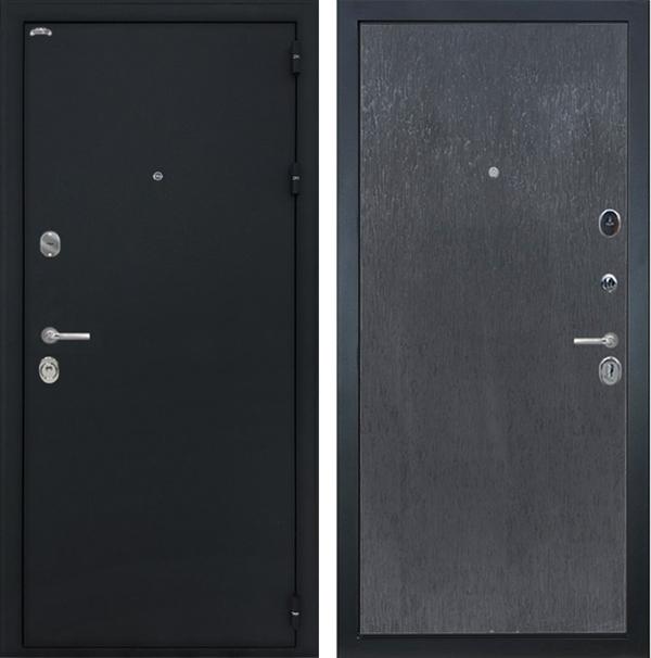 Входная металлическая дверь Интекрон Колизей (Чёрный шелк / ЭкоВенге)