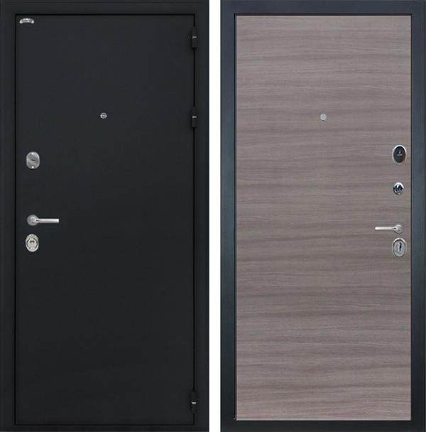 Входная металлическая дверь Интекрон Колизей (Чёрный шелк / Дуб Тоскано)