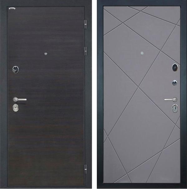 Входная металлическая дверь Интекрон Сицилия Лучи (ЭкоВенге / Графит)
