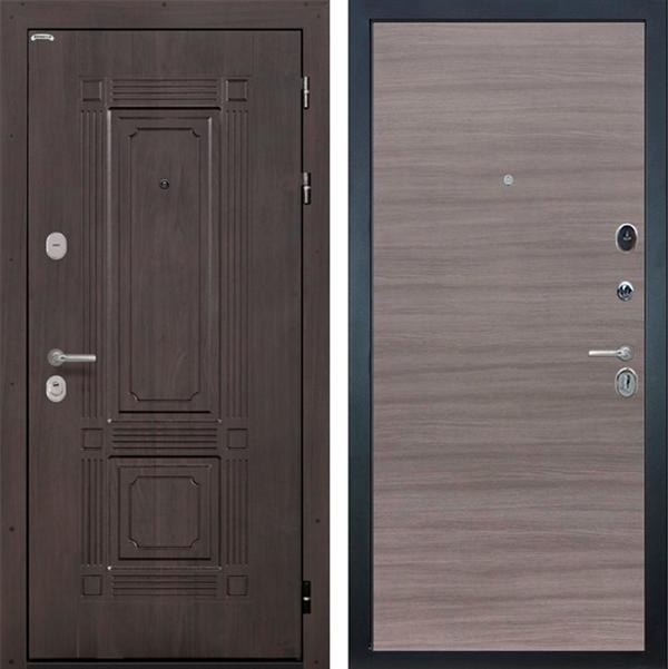 Входная металлическая дверь Интекрон Италия (Венге / Дуб Тоскано)