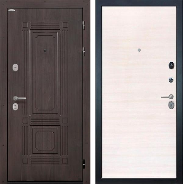 Входная металлическая дверь Интекрон Италия (Венге / Дуб Сильвер)