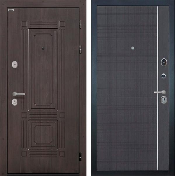 Входная металлическая дверь Интекрон Италия L-6 (Венге / Венге)