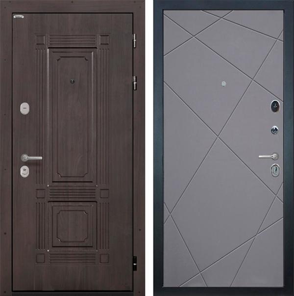 Входная металлическая дверь Интекрон Италия Лучи (Венге / Софт Графит)