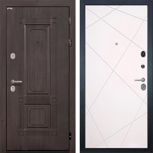 Входная металлическая дверь Интекрон Италия Лучи (Венге / Софт Милк)