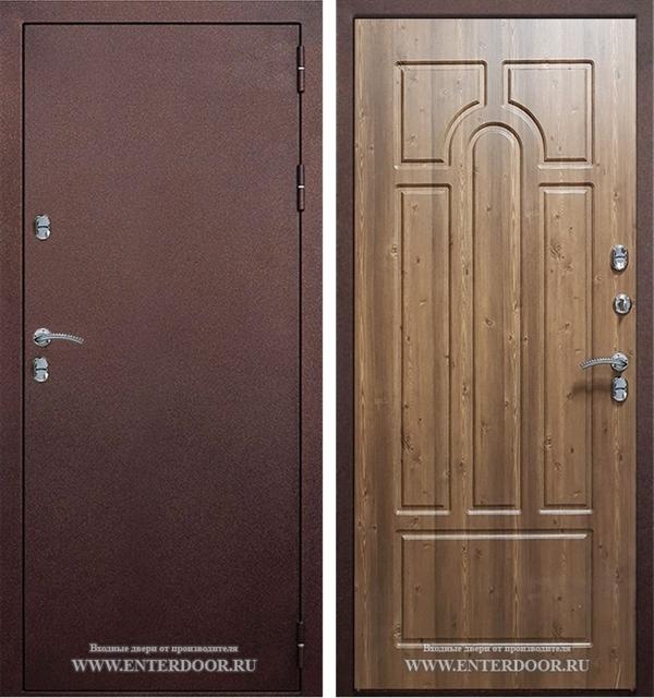 Входная уличная дверь Урал с терморазрывом (Орех кантри)