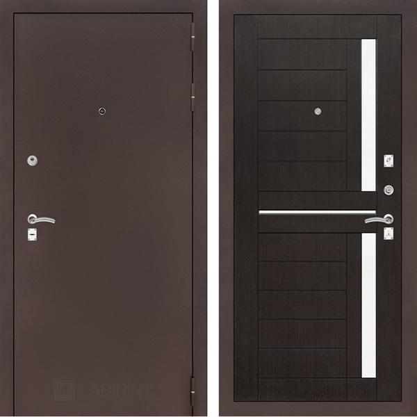 Входная металлическая дверь Лабиринт Классик 2 (Антик медный / Венге)