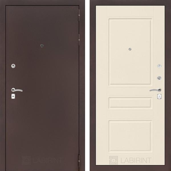 Входная металлическая дверь Лабиринт Классик 3 (Антик медный / Крем софт) - Копия