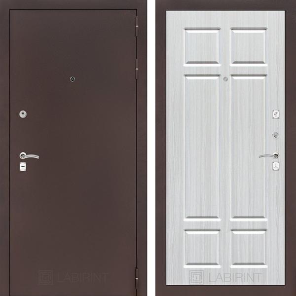 Входная металлическая дверь Лабиринт Классик 8 (Антик медный / Кристалл вуд)