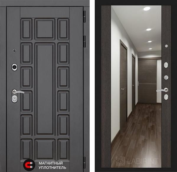 Входная металлическая дверь Лабиринт Нью-Йорк с зеркалом Максимум (Венге)