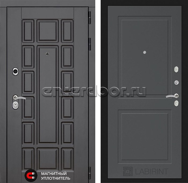 Входная металлическая дверь Лабиринт Нью-Йорк 11 (Графит софт)