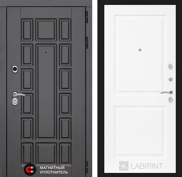 Входная металлическая дверь Лабиринт Нью-Йорк 11 (Белый софт)