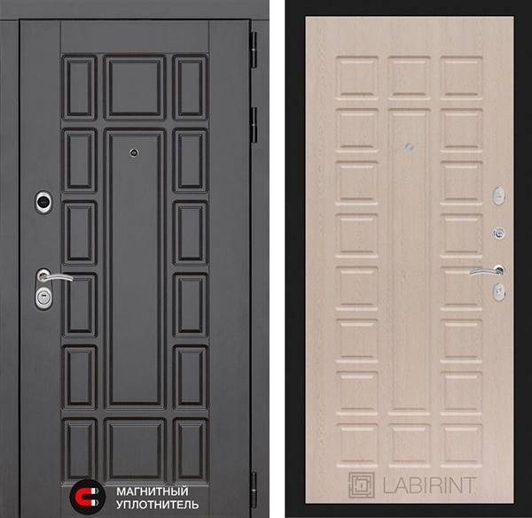 Входная металлическая дверь Лабиринт Нью-Йорк 4 (Дуб беленый)