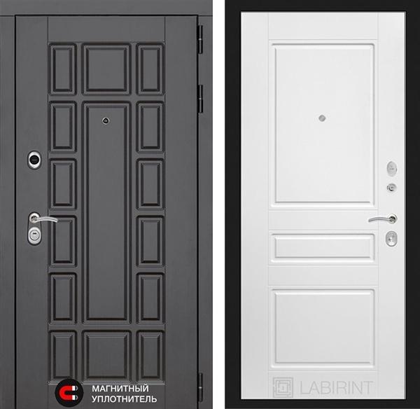 Входная металлическая дверь Лабиринт Нью-Йорк 3 (Белый софт)