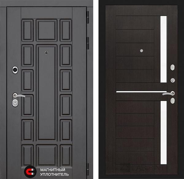 Входная металлическая дверь Лабиринт Нью-Йорк 2 (Венге)