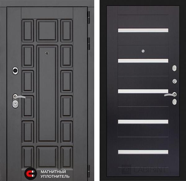Входная металлическая дверь Лабиринт Нью-Йорк 1 (Венге)