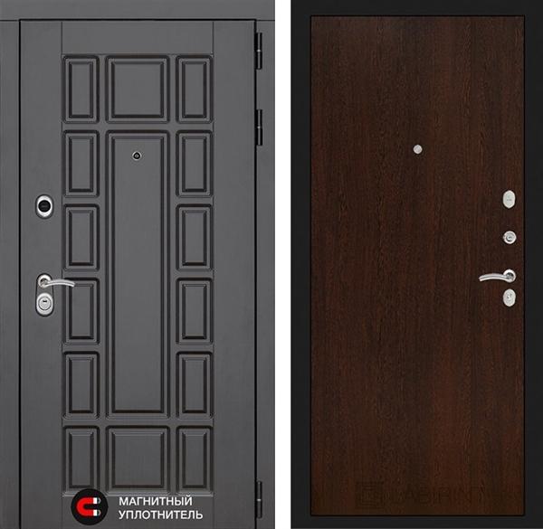 Входная металлическая дверь Лабиринт Нью-Йорк 5 (Венге)