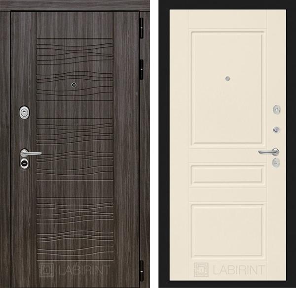 Входная металлическая дверь Лабиринт Сканди 3 (Дарк Грей / Крем софт)