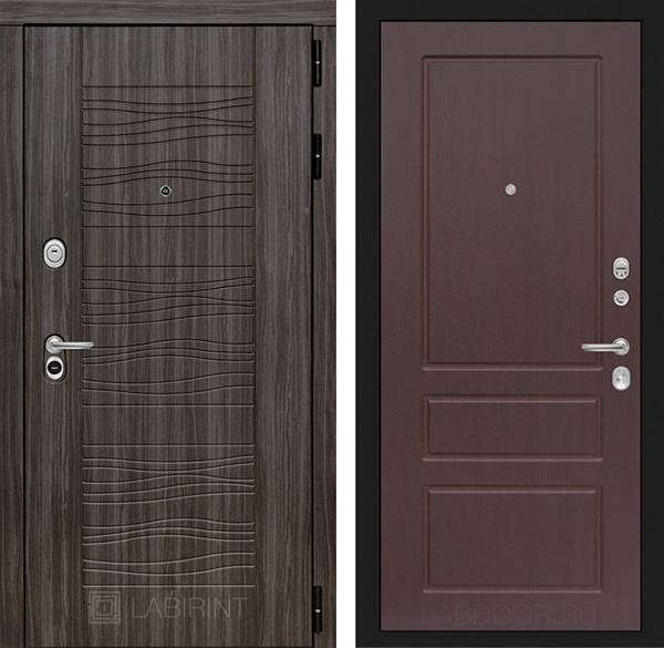 Входная металлическая дверь Лабиринт Сканди 3 (Дарк Грей / Орех премиум)