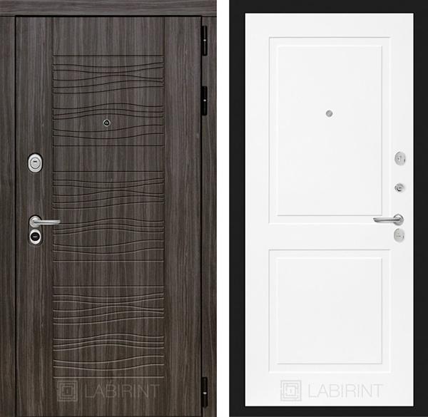 Входная металлическая дверь Лабиринт Сканди 11 (Дарк Грей / Белый софт)