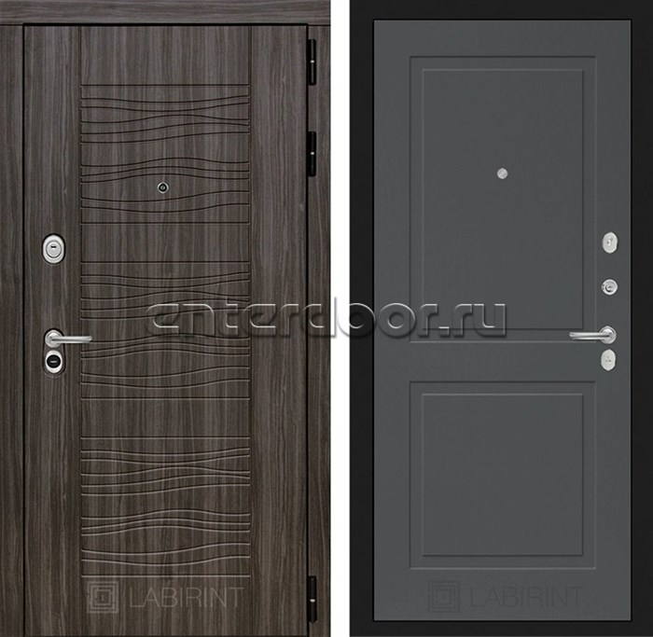 Входная металлическая дверь Лабиринт Сканди 11 (Дарк Грей / Графит софт)