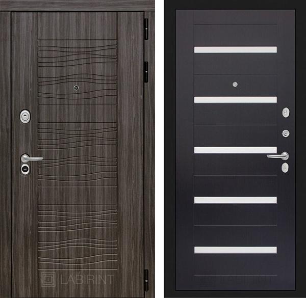 Входная металлическая дверь Лабиринт Сканди 1 (Дарк Грей / Венге)