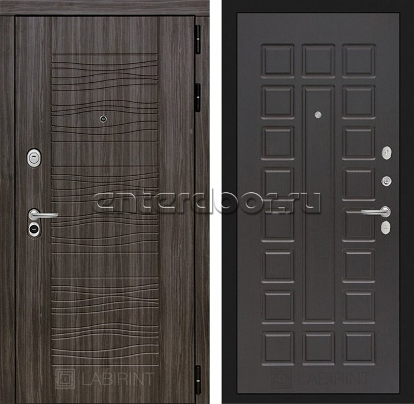 Входная металлическая дверь Лабиринт Сканди 4 (Дарк Грей / Венге)