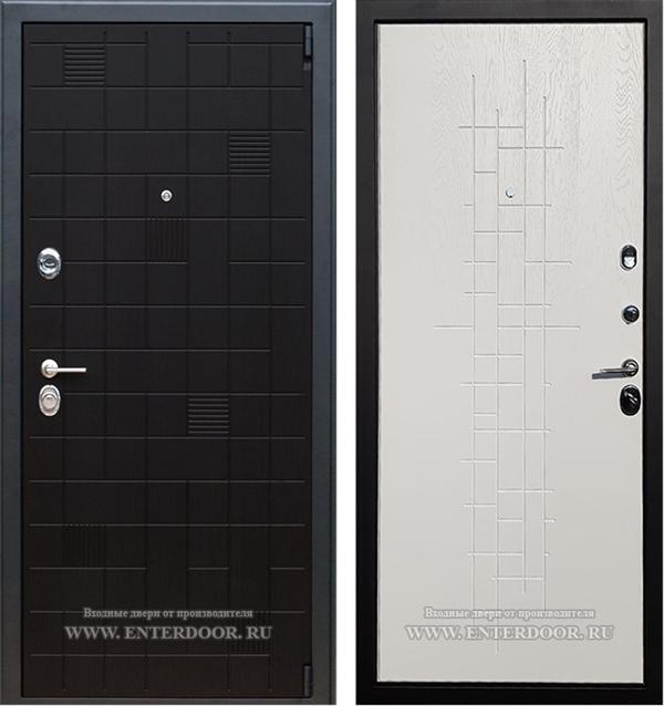 Входная металлическая дверь Армада Тетрис (Ясень черный / Роял Вуд белый)