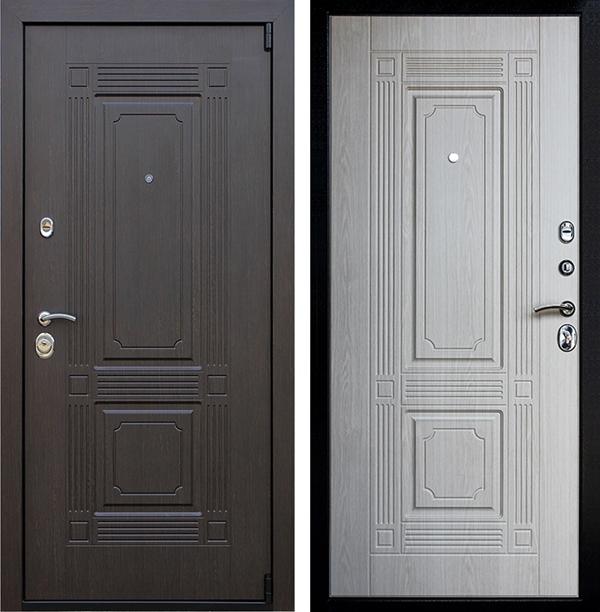 Входная металлическая дверь АСД Викинг (Венге / Беленый дуб)