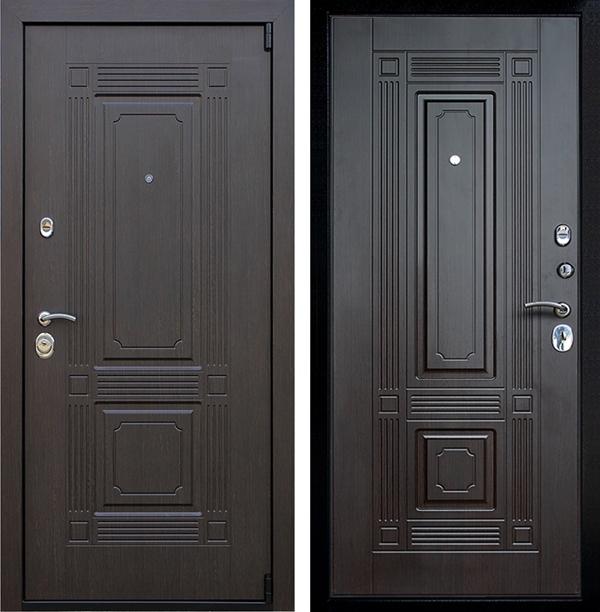 Входная металлическая дверь АСД Викинг (Венге / Венге)