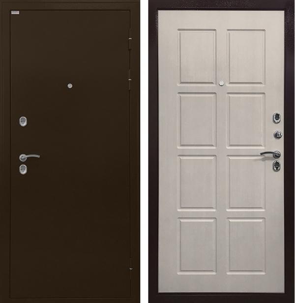 Входная уличная дверь с терморазрывом Ратибор Термоблок 3К (Лиственница беж)