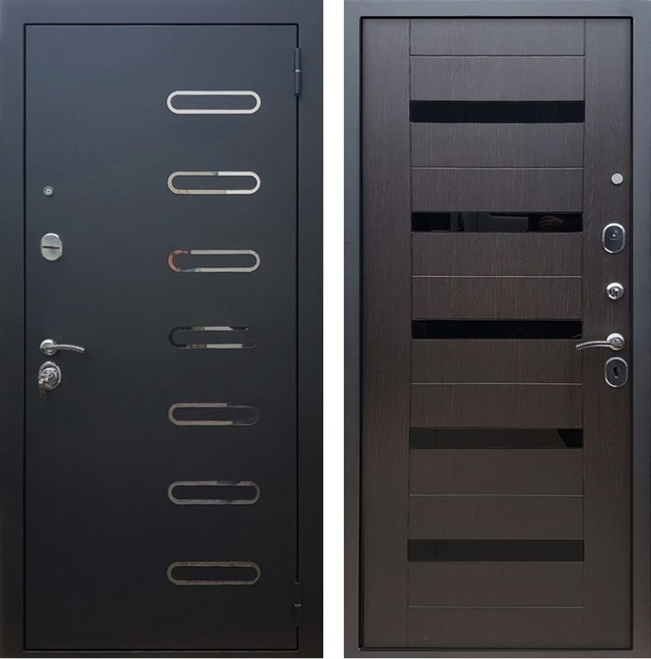 Входная металлическая дверь Армада Понте СБ-14 (Черный муар / Венге)