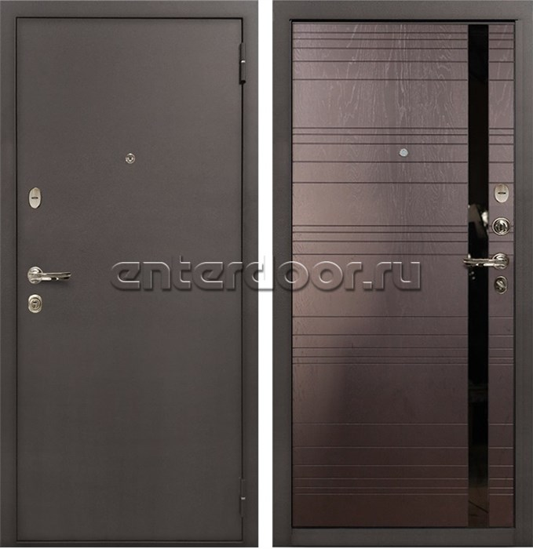 Входная стальная дверь Лекс 1А (№31 Ясень шоколад)