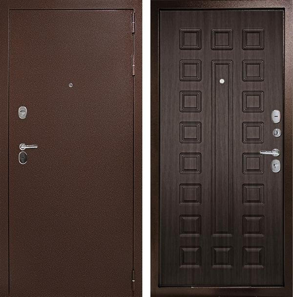 Входная дверь Дверной Континент Гарант-1 3К (Медный антик /  ЗкоВенге)